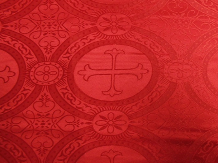 Red Church Brocade Fabric Red Brocade Material Vogue