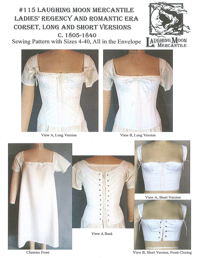 Laughing Moon 115 Ladies Regency And Romatic Era Corset With