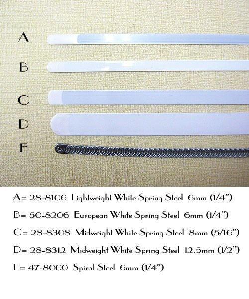 5ced84e5a2 ... White Spring Steel Croset Bones and Spiral Boning or Stays for Corsets  ...