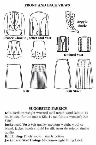 Sewing Pattern - Folkwear #152 Scottish Kilts > Folkwear Patterns ...