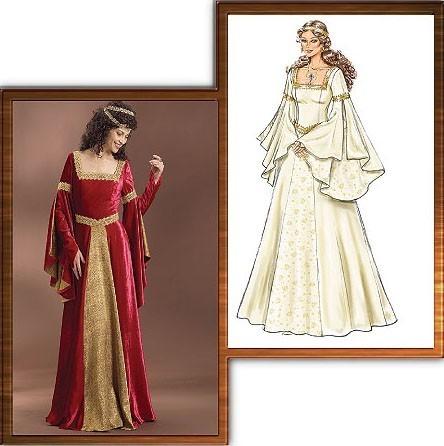 Butterick 60 Medieval Dress Pattern Classy Medieval Dress Pattern