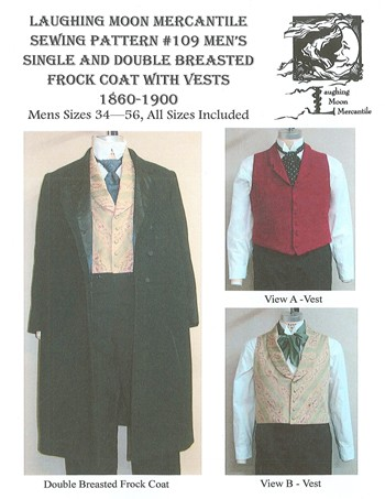 Laughing Moon #109 - Victorian Men\'s Frock Coat with Vests Sewing ...