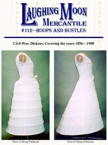 Laughing Moon Mercantile #112 - Civil War Hoop Skirt and Bustle ...