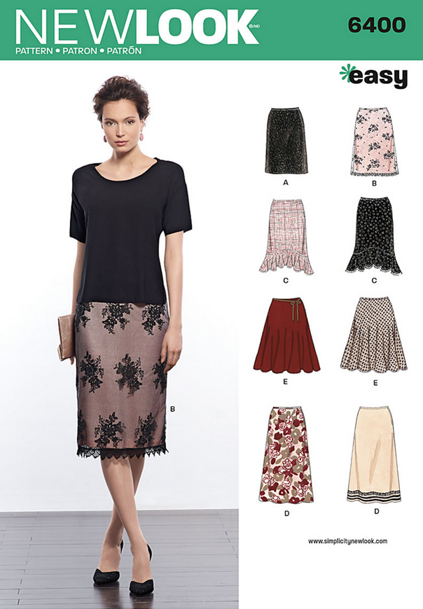 Patterns - New Look 6400 Misses\' Skirts in Various Styles. > Vogue ...