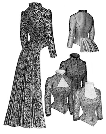 Truly Victorian #462 - 1883 Tail Bodice - Historical Sewing Pattern