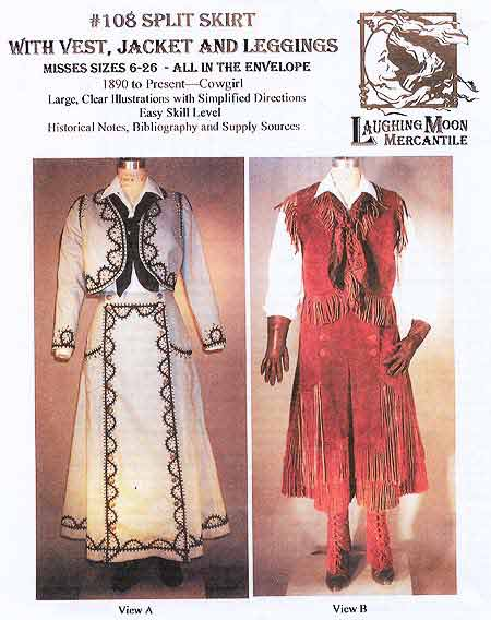 Laughing Moon #108 - 19th Century Cowgirl Sewing Pattern > Patterns ...