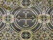 Metallic Church Brocade Black-Gold