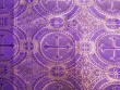 Wholesale Metallic Church Brocade - Purple-Gold 25 yards ***Temporarily out of Stock***