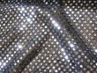 Wholesale Faux Sequin Knit Fabric - 1131 Silver-Black  25 yards