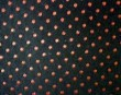 Coutil - Black/Red Spot Corseting Fabric, priced per 1/2 yard