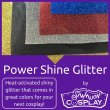 Power Shine Glitter by Sew Much Cosplay - Vinyl-backed Iron-on glitter fabric