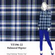 VF196-22 Balmoral Hipster - Royal-Navy-White Push Plaid Cotton Flannel Fabric from Robert Kaufman
