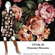 VF196-38 Misnomer Blossoms - Clay-Peach-Olive Liverpool Crepe Knit Floral Print Fabric