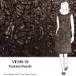 VF196-50 Fashion Dazzle - Copper Art Deco Sequin Border Design on Black Stretch Velvet Fabric