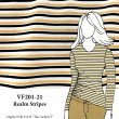 VF201-21 Realm Stripes - Gold-Black-White Textured Knit Fabric