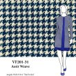 VF201-31 Aesir Weave - Yarn-Woven Cotton-Rayon Blend Houndstooth Novelty Jacket Fabric