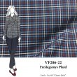 VF206-22 Fredagsmys Plaid - Navy Cotton Shirting Fabric with Red-White-Blue Plaid Design