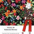 VF212-39 Reduction Rowena - Floral Print on Black Liverpool Crepe Knit Fabric