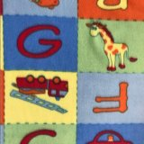 Polar Fleece Print - ABC Blocks