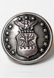 Novelty Button - Air Force Jacket or Coat Shank Button - 23mm - Antique Silver 7/8""