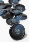 "Wholesale Button - Flat Jacket or Coat Button - 21mm - Blue Multi 9/16"" - 1 Gross (114)"