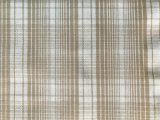 Cotton Plaid Stretch Suiting Fabric - Beige