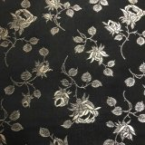 Coutil - Black and Champagne Brocade Corseting Fabric, Priced per 1/2 yd