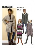 Butterick Pattern 6251 - Misses' Shawl Collar Sweater Jacket - Easy