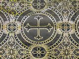 Metallic Church Brocade - Black -Gold