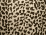 Minky Animal Print Fur Fabric - Baby Cheetah, close up view