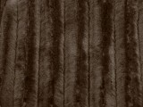 Minky Animal Print Fur Fabric - Brown Mink, close up