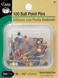 Dritz #27 Ball Point Pins - 100 Count