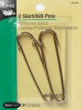 Dritz #62-65 Skirt or Kilt Pins-Silver
