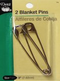 Dritz #71 Blanket Pins - Silver  - 2 Count