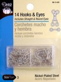 Dritz #90-3-65 Hook & Eyes - Nickel Size 3 - 14 Count