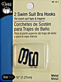 Dritz- Swim Suit Bra Hooks #99-12-1  - Black , 1/2""