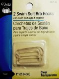 Dritz- Swim Suit Bra Hooks #99-1-61  - Clear, 1""
