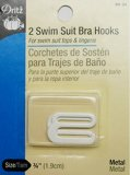 Dritz #99-34- Swim Suit Bra Hooks -  White, 3/4""