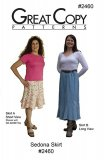 Great Copy #2460 Sedona Skirt Sewing Pattern - cover