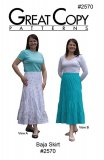 Great Copy #2570 Baja Skirt Sewing Pattern - cover