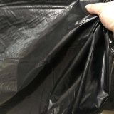 Black lightweight Imitation Vinyl Fabric