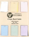 Color Card - Crepe Back Satin Fabric