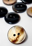 "Wholesale Button - Iridescent Flat 2 Hole Plastic Button #32 - Brown - 20mm - 13/16""  1 Gross (144)"