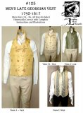 Laughing Moon #125 - Men's Late Georgian Vest Sewing Pattern