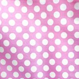 Lolly Cotton Print Fabric - Petal Pink Polka Dot - Big Dots