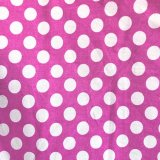 Lolly Cotton Print Fabric - Magenta Polka Dot - Big Dot