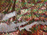 Mermaid Reversible Sequin Knit- Red-Green-Gold Hologram