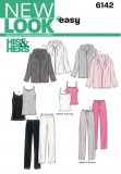 New Look 6142 UNISEX PANTS, JACKET AND KNIT