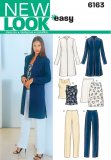 New Look 6163 Misses' Jacket, Top, Skirt, & Slacks