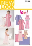 New Look 6334 CHILD'S NIGHTGOWN, PAJAMAS, R